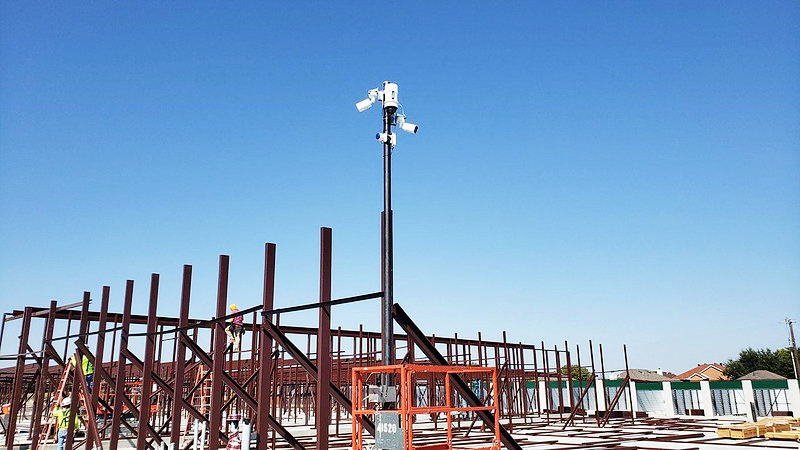 Construction Site Security Camera with alarms - WCCTV